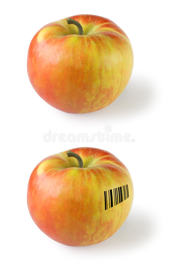 Download Apple with barcode stock photo. Image of pharmcode, apples - 1724154