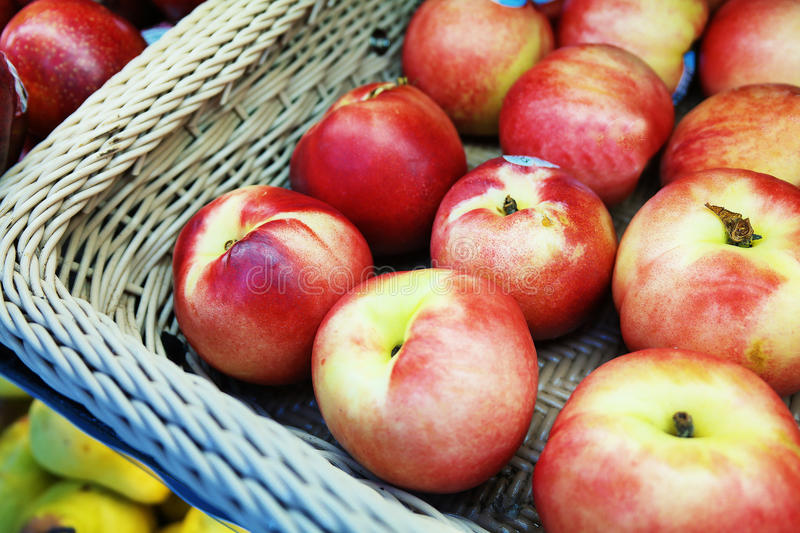 Apple in the Basket. Red apple in the Basket stock image