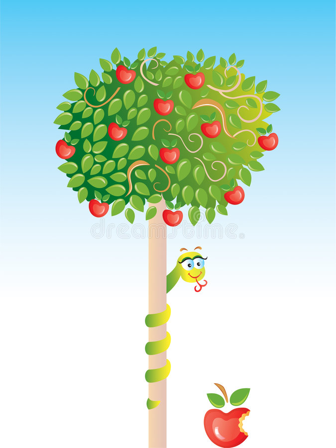 Apple-Baum lizenzfreie abbildung