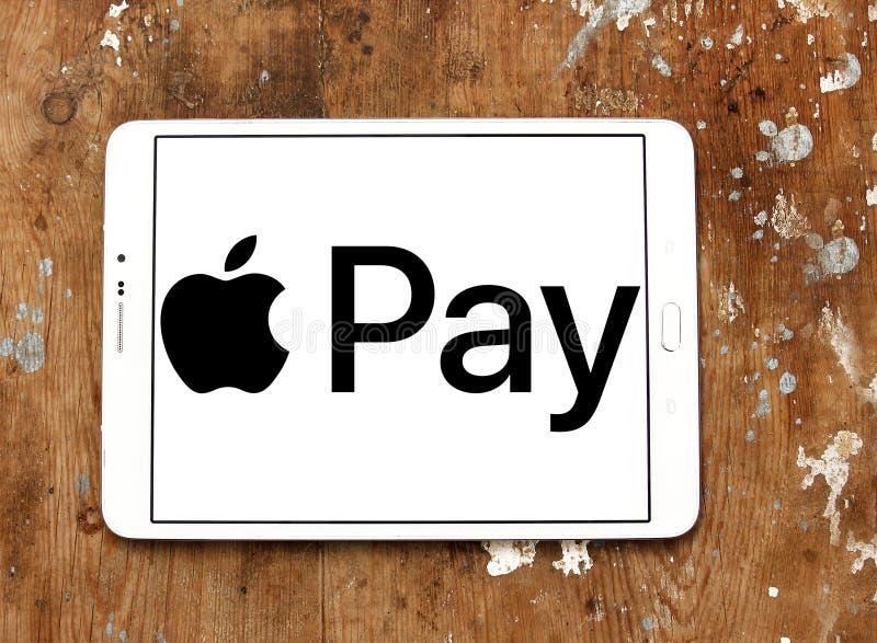 Apple betaalt embleem stock afbeeldingen