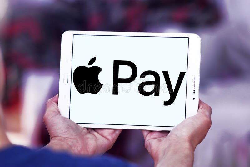 Apple betaalt embleem stock foto's