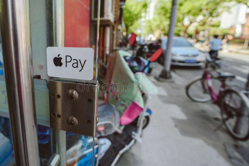 Apple betaalt embleem royalty-vrije stock foto's