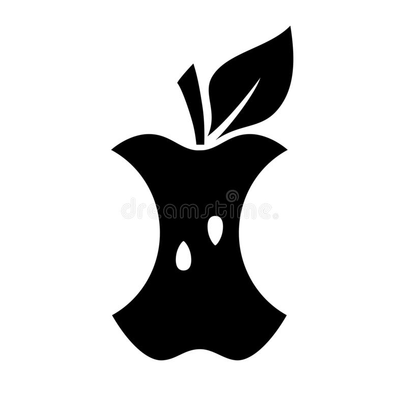 Apple bite vector icon stock illustration