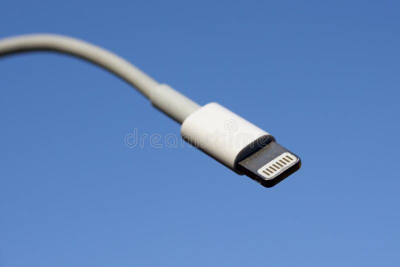Apple blixtkontaktdon arkivbilder