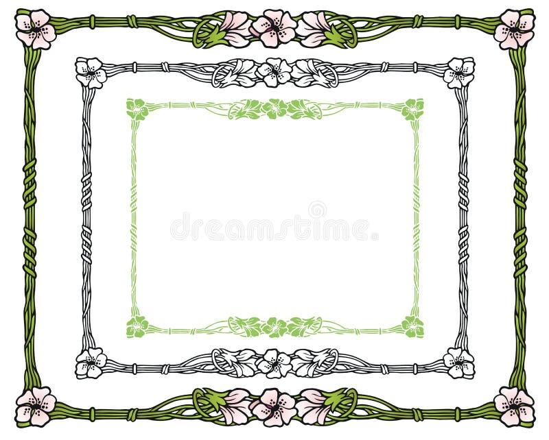 Apple blomninggräns royaltyfri illustrationer