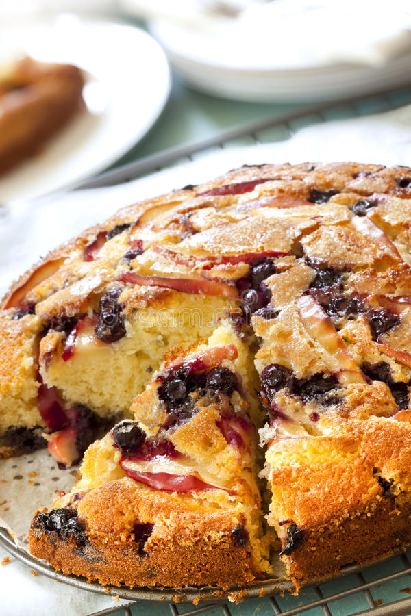 Download Apple And Blueberry Cake Royalty Free Stock Photography - Image: 19050077