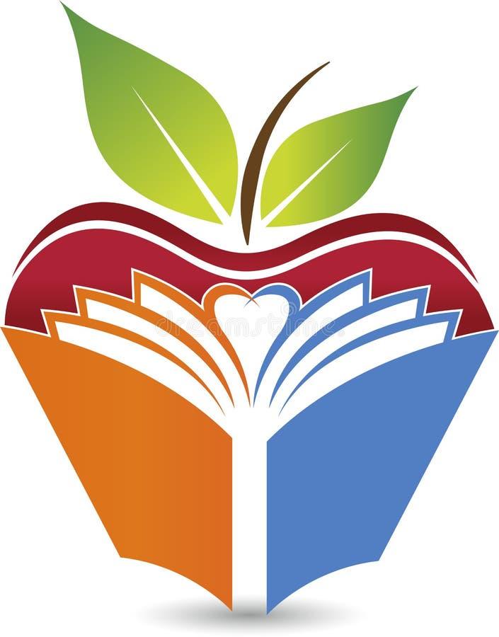 Apple book logo vector illustration