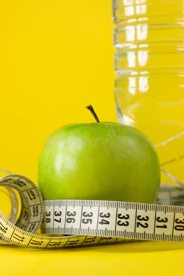 Download Apple, Bottle And Centimeter Royalty Free Stock Images - Image: 5003509
