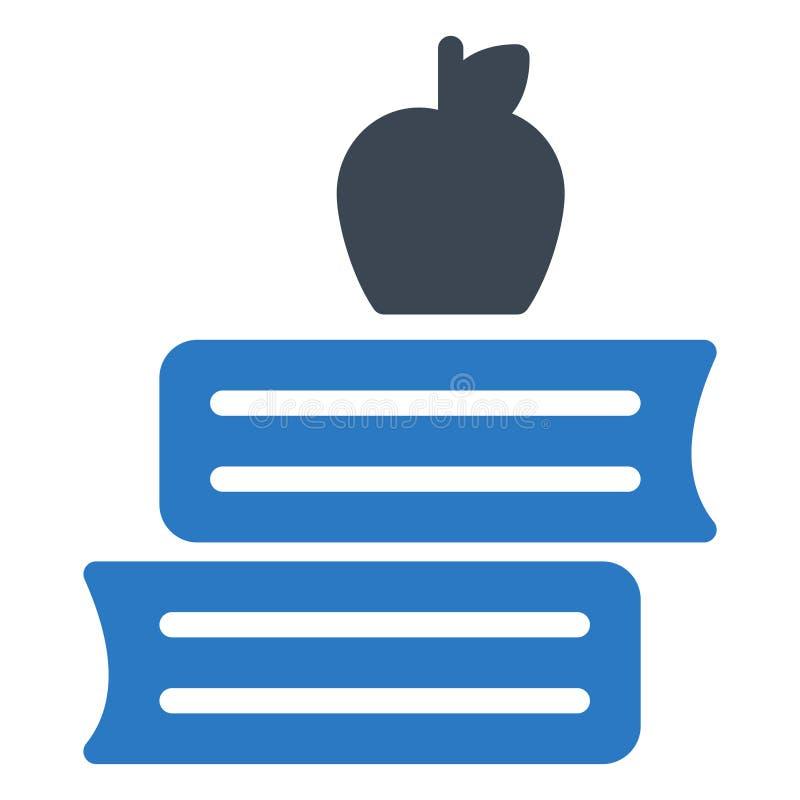Apple-Buch Glyphfarbvektorikone lizenzfreie abbildung