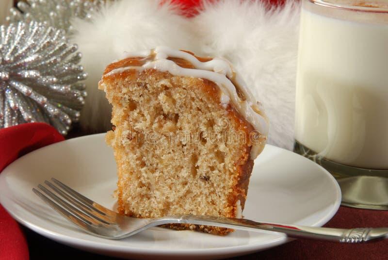 Apple bundt cake at Christmas stock image