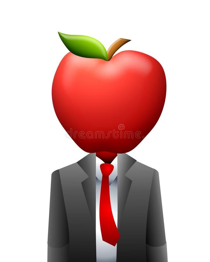 Apple Business Head Suit vector illustration