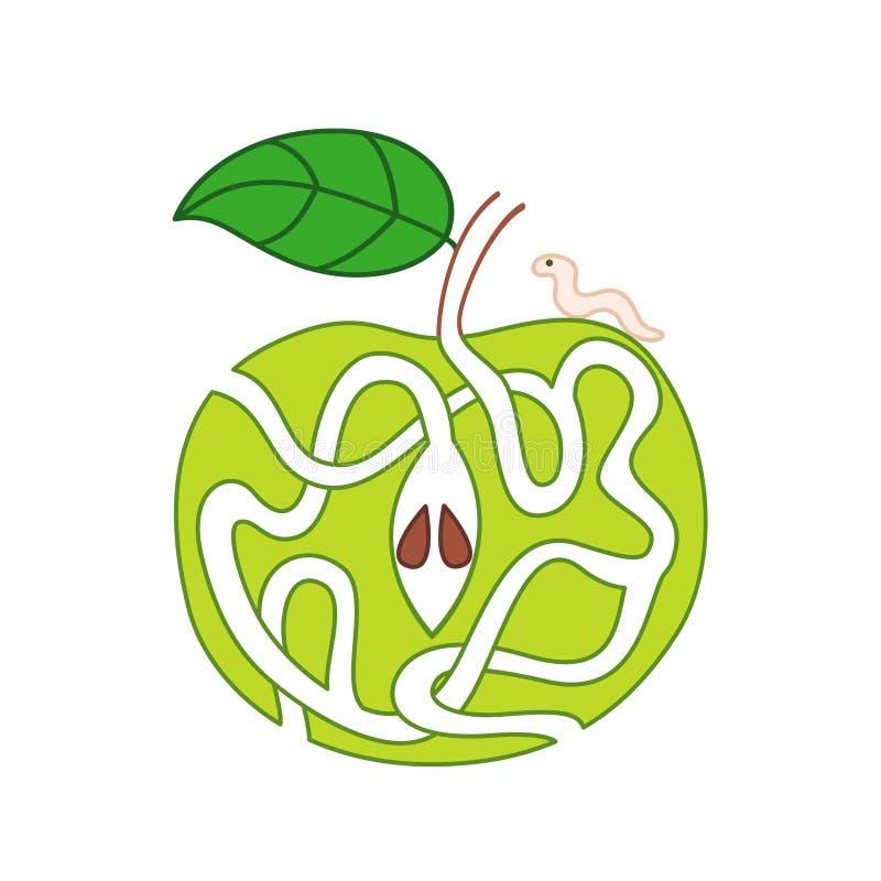 Apple caçoa o labirinto ilustração do vetor
