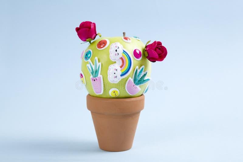 Apple cactus stock photography