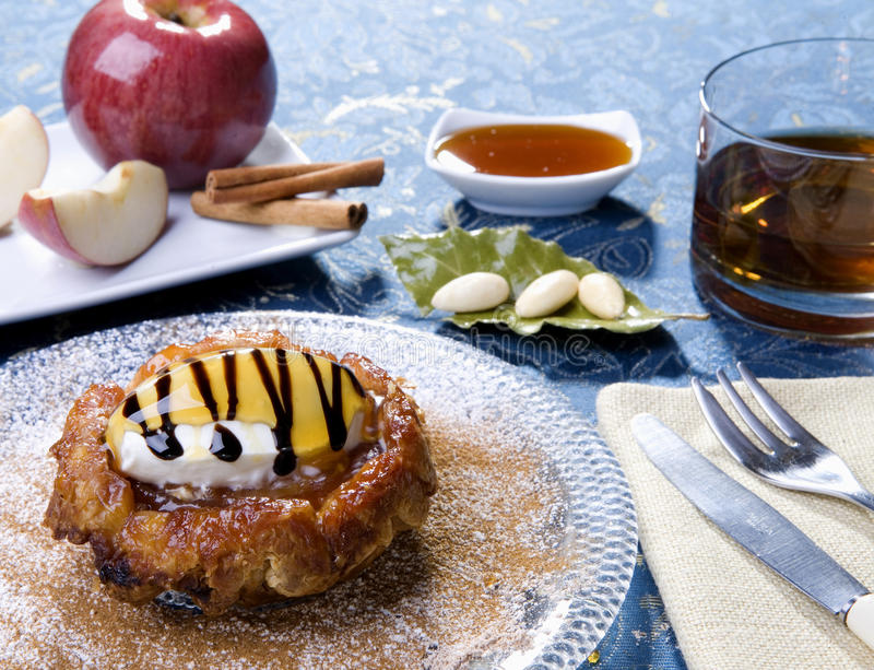 Download Apple cake stock photo. Image of balsamic, sugar, glass - 14276100