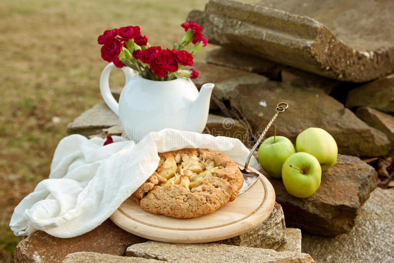 Download Apple cake stock image. Image of cake, biscuit, party - 24294473