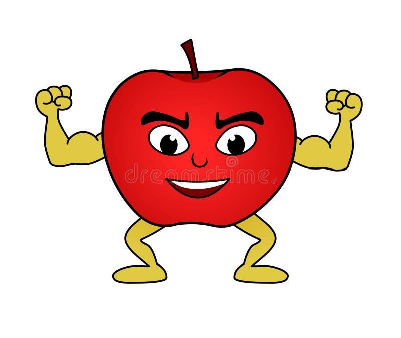 Apple cartoon stock illustration