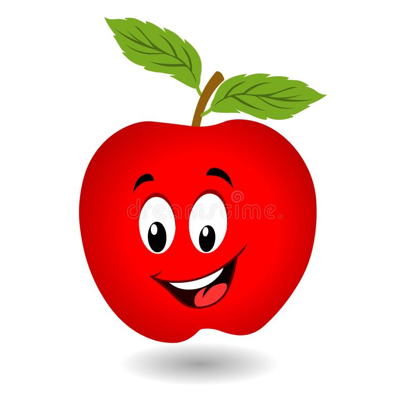 Apple cartoon royalty free illustration