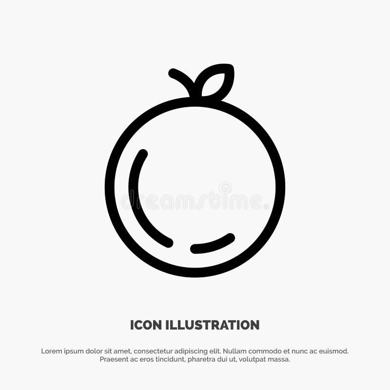 Apple, Chiny, Chińska wektor linii ikona royalty ilustracja