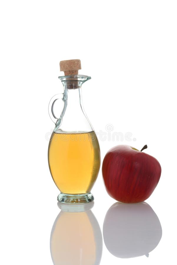 Apple cider cider with fresh apple. On white background royalty free stock image