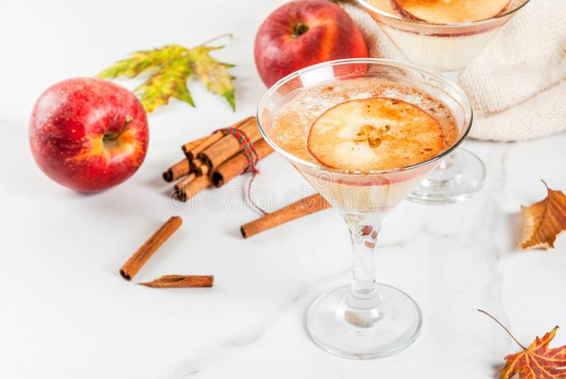 Apple-cider martini Margarita stock fotografie