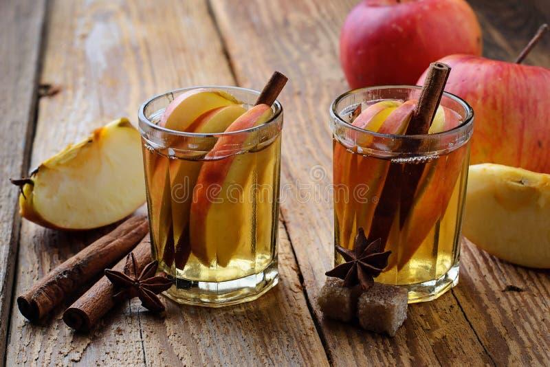 Apple-cider met kaneel royalty-vrije stock afbeeldingen