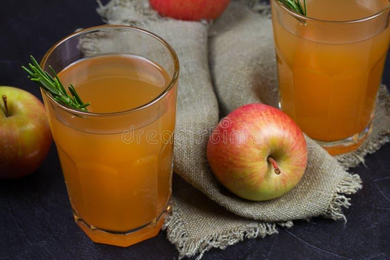 Apple-cider met rozemarijn royalty-vrije stock foto
