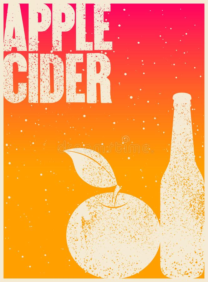 Free Apple Cider Typographical Vintage Grunge Style Poster. Retro Vector Illustration. Royalty Free Stock Image - 122903906