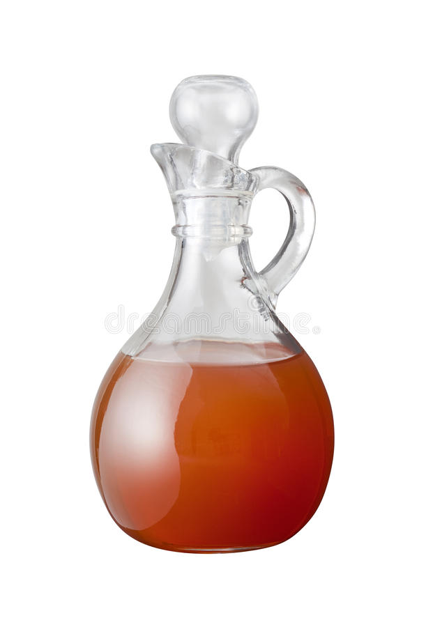 Apple Cider Vinegar (with clipping path). Isolated on a white background. Isolation is on a transparent layer in the PNG format royalty free stock photo