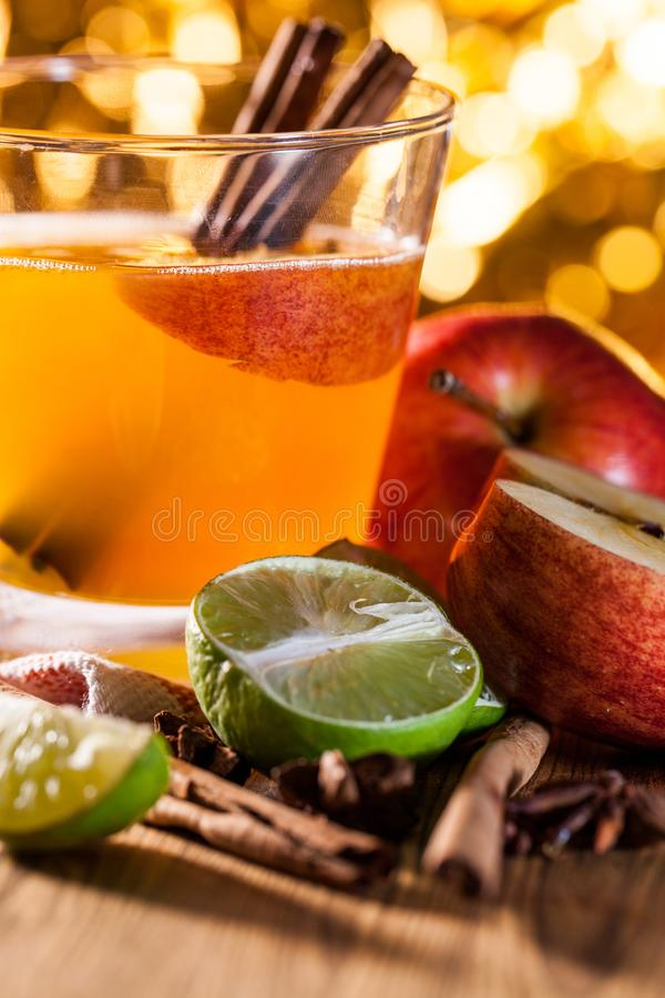 Apple cider with apple. Apple cider vinegar,Healthy drink royalty free stock photo
