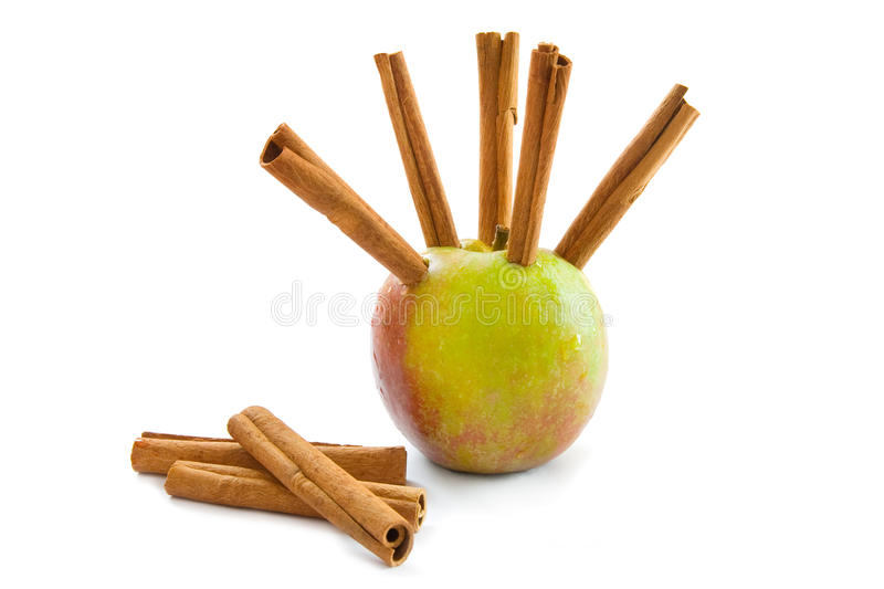 Download Apple and cinnamon stock image. Image of organic, spiced - 11074741