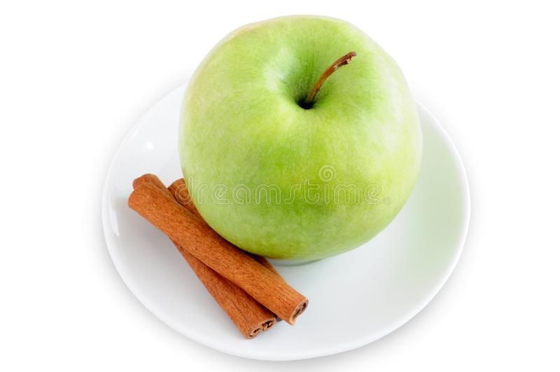 Download Apple And Cinnamon On A Plate Stock Image - Image of garnish, homemade: 13573373