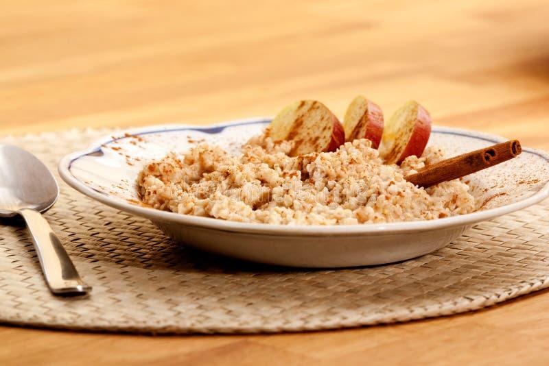 Apple Cinnamon Porridge stock image