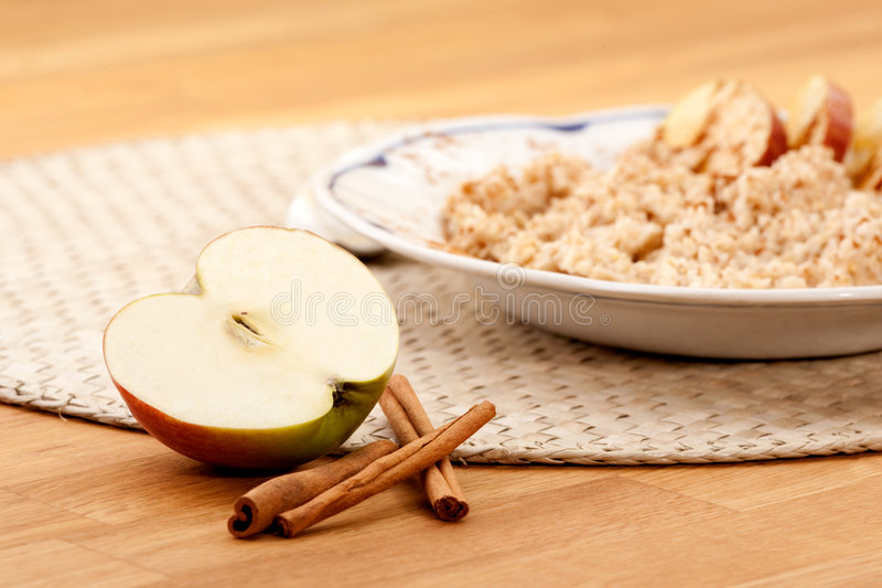 Download Apple Cinnamon Porridge stock photo. Image of fashion - 9087226