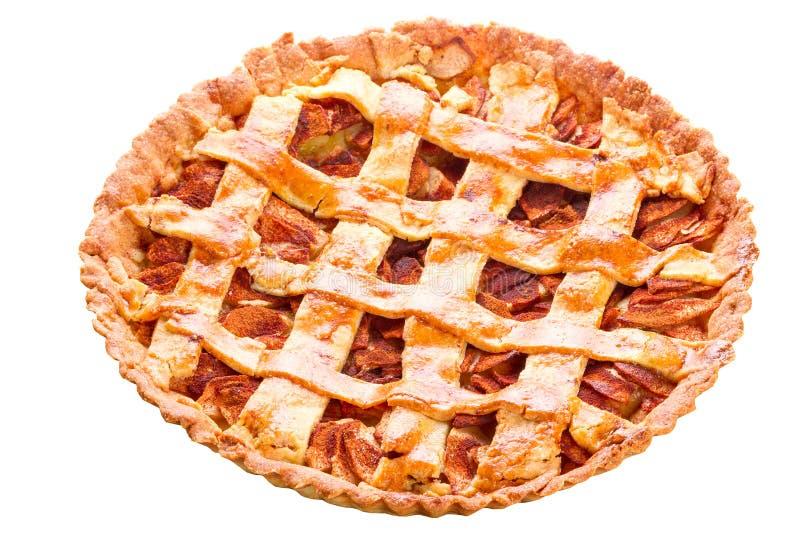 Apple and cinnamon tart isolated