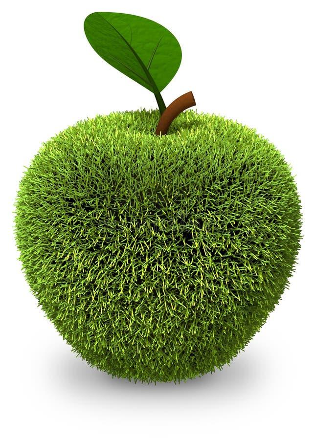 Apple cobriu com a grama verde ilustração royalty free