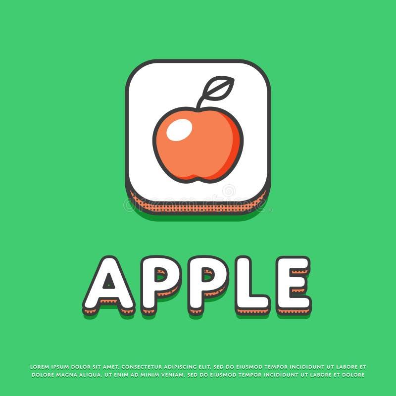 Apple colorent l'icône dans la ligne conception illustration de vecteur