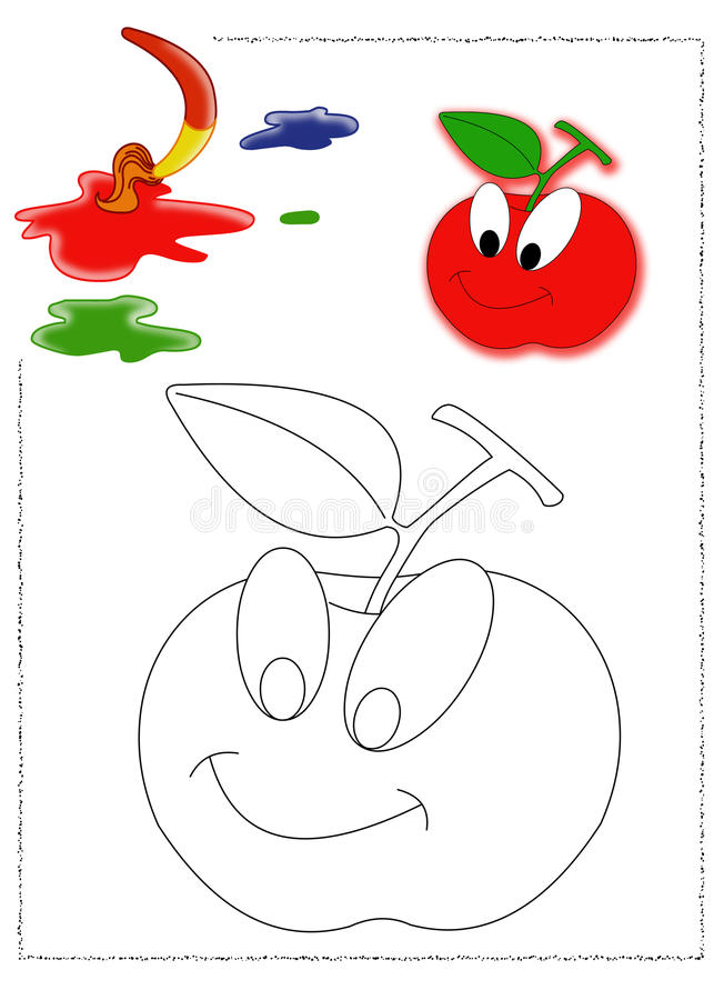 Download Apple coloring stock illustration. Image of colored, illustration - 23560776