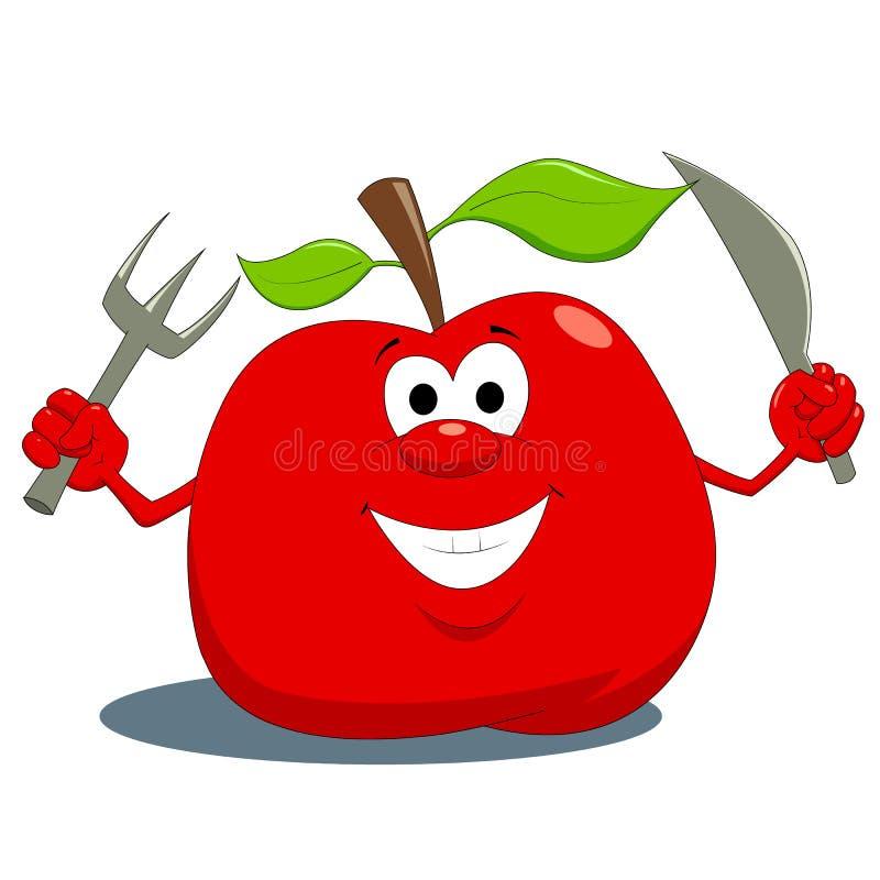 Apple com fome ilustração royalty free
