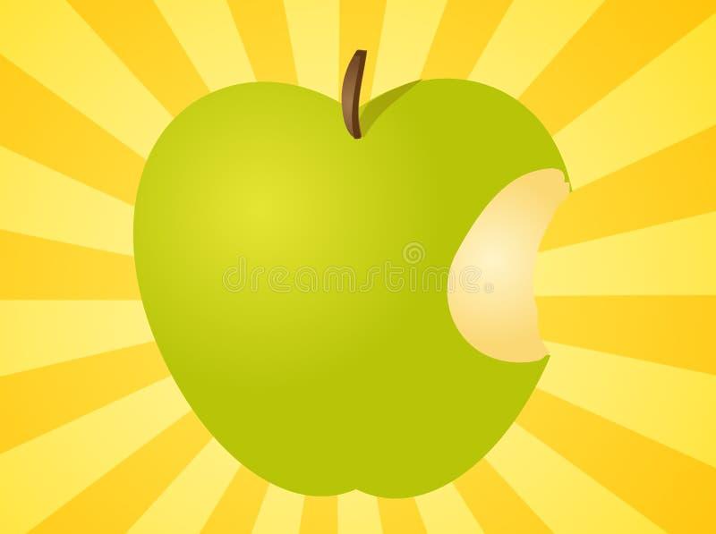 Apple com ilustração da mordida ilustração do vetor