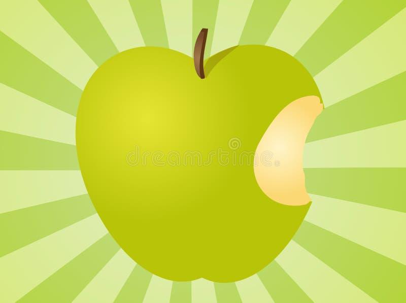 Apple com ilustração da mordida ilustração stock