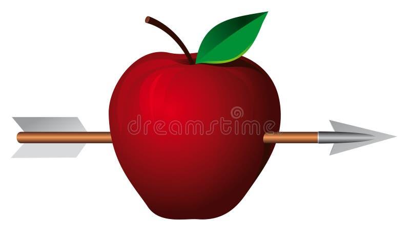 Apple com seta ilustração do vetor