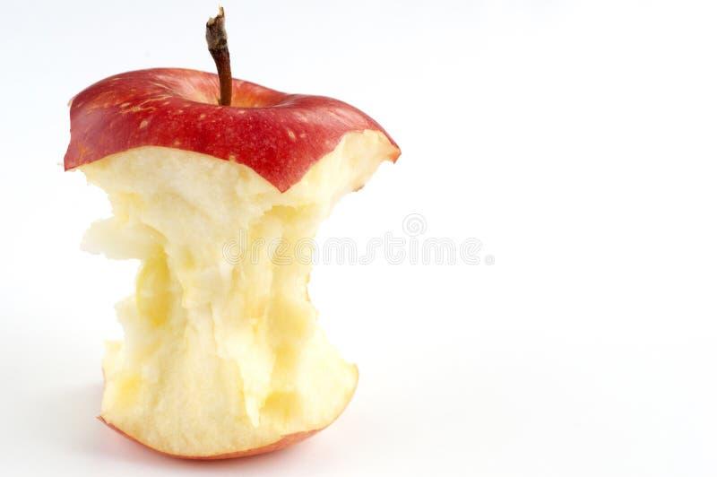 Apple comido fotografia de stock
