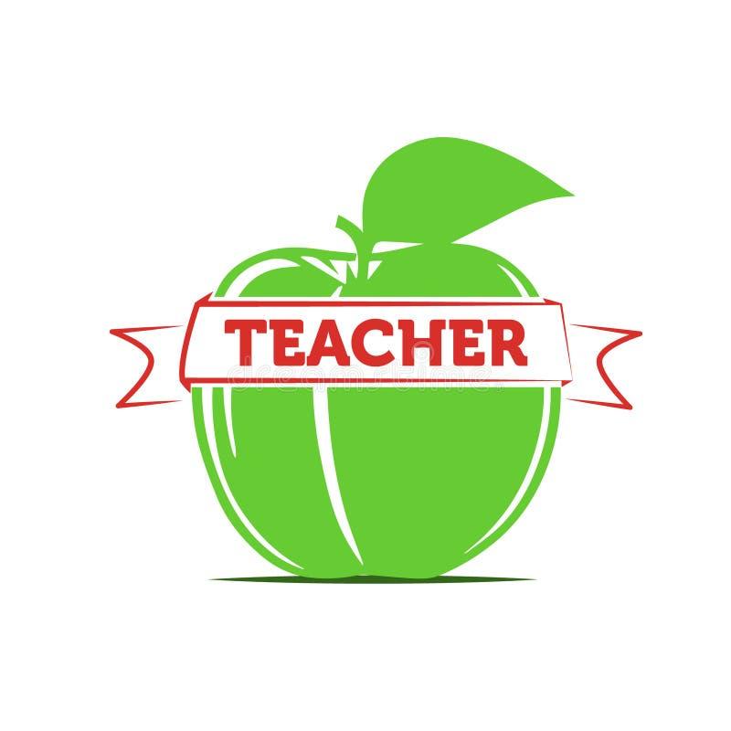 Apple como símbolo de un profesor/de la enseñanza fotografía de archivo libre de regalías