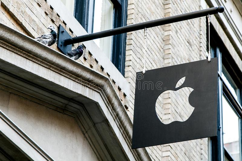 Apple Company商标 免版税库存图片