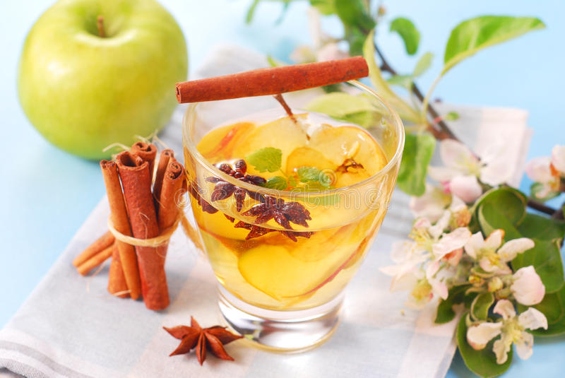 Apple compote. With cinnamon and anise stars royalty free stock photo