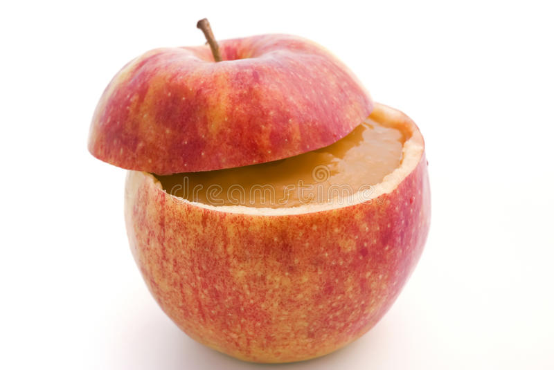 Apple Compote. In the fresh apple isolated stock photo