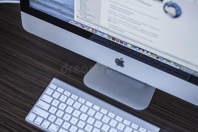 Apple computer with keyboard