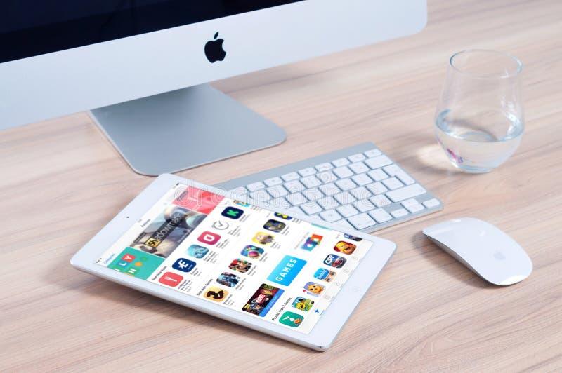 Apple Computer y tableta fotos de archivo libres de regalías