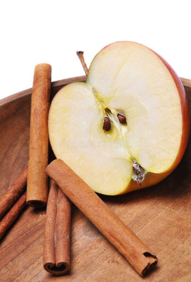 Apple con cannella fotografia stock