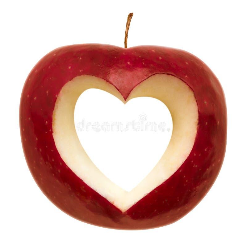 Apple con dimensión de una variable del corazón imágenes de archivo libres de regalías